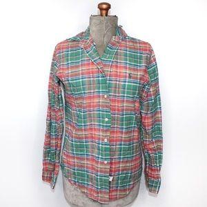 🎀3/$30 Men's Ralph Lauren Red Green Button Top